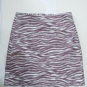 Beautiful Zebra print mini skirt